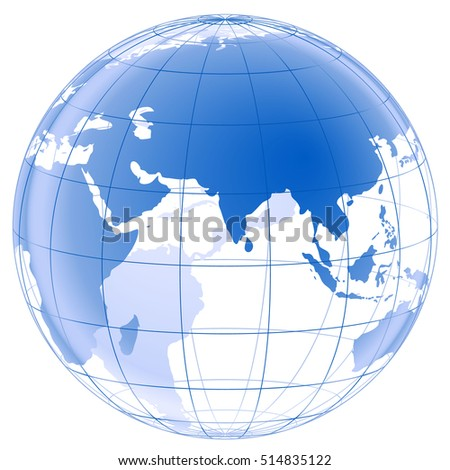 Color globe earth 3d vector