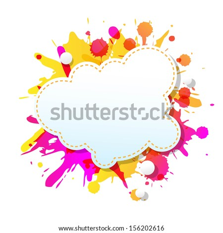 Color Grunge Poster With Abstract Speech Bubbles With Gradient Mesh, Vector Illustration - stock vector