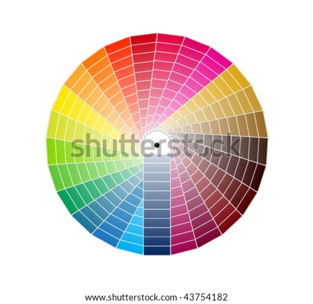 color guide - stock vector