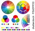 Color guides vector illustration - stock photo