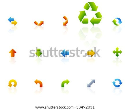 color icons | set 16 - stock vector