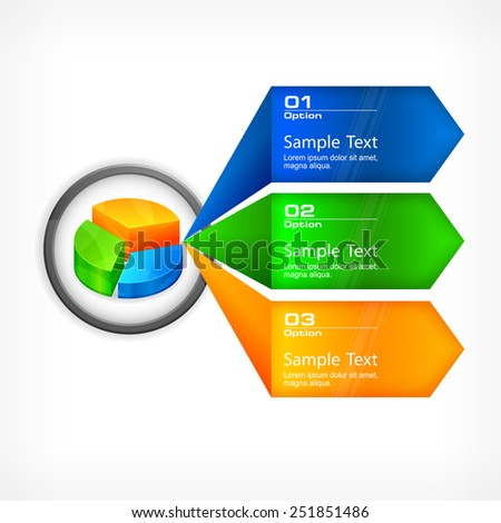 Color infographic concept elements, vector illustration - stock vector