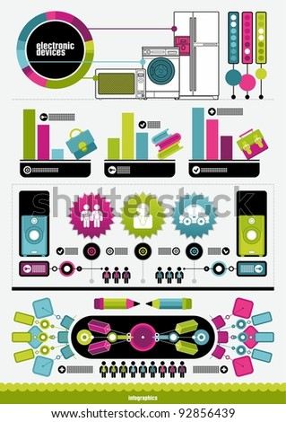 color infographics - stock vector