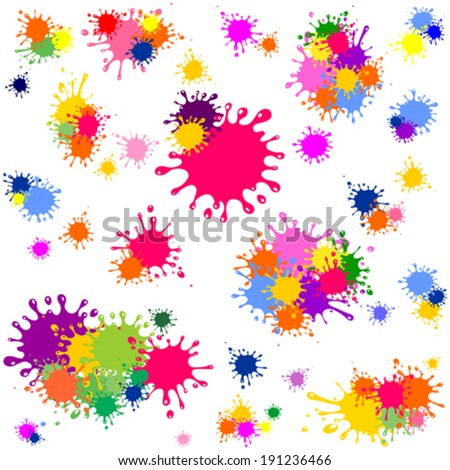 Color ink blots seamless background. Vector Illustration  - stock vector