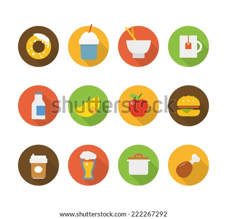 Color interface icons  - stock vector