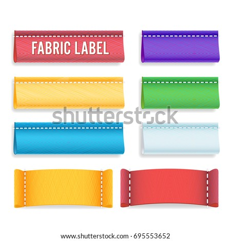 color label fabric blank vector realistic stock vector 695553652