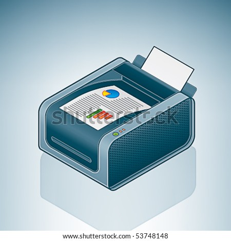 Color Laser Printer - stock vector
