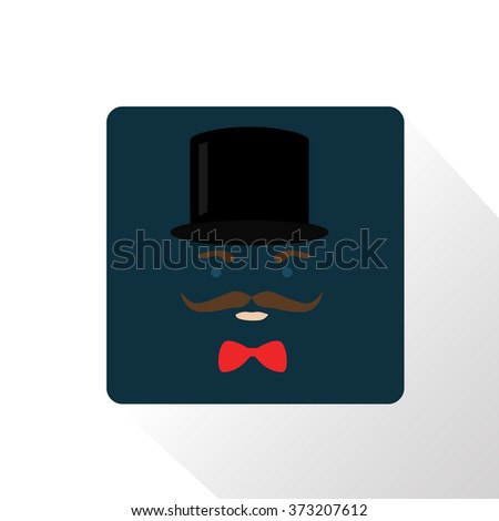 retro party set sunglasses hat and mustaches stock vector
