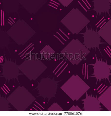 color memphis style abstract square background