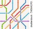 Color metro scheme seamless background - stock vector