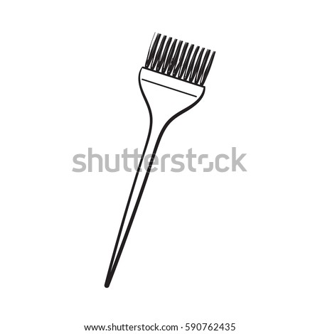 Color Mixing Plastic Hairdresser Brush Hairbrush Stock Vector ...