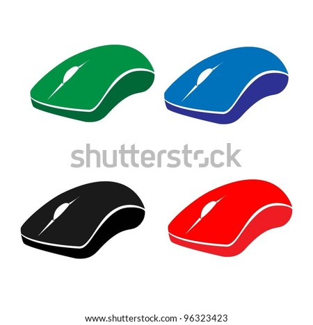 Color mouse (vector)