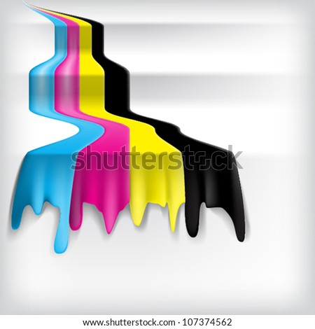 Color of cmyk flow, eps10 vector - stock vector