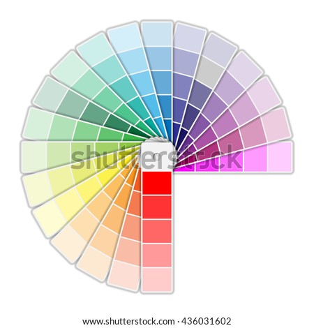 Color Palette Icon isolated on white background. Vector illustration
