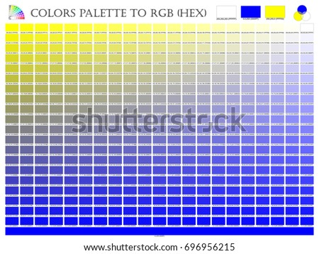 Color Palette Mixer 3 Yellow White And Blue RGB Mode In Composition