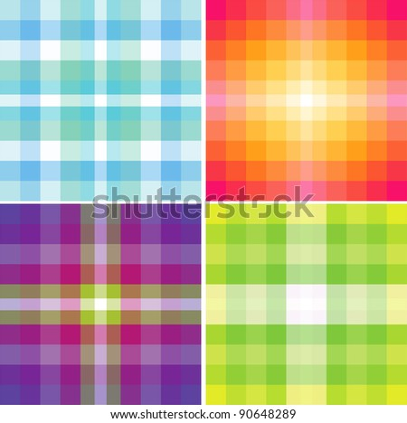 Color palettes, color shades - stock vector