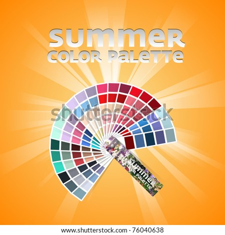 Color pallete set of four - SUMMER - stock vector