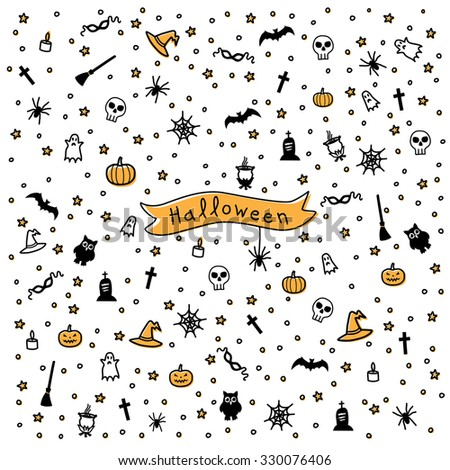 Color pattern for Halloween - stock vector