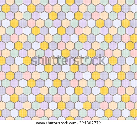 Color pattern of polygons. Fabric texture. - stock vector