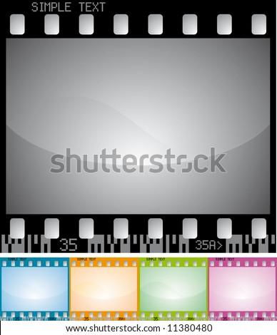 color photo frame - stock vector