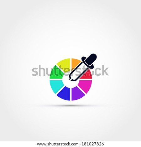 Color picker icon - stock vector