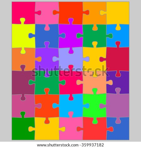 Color puzzles background. Jigsaw puzzle game