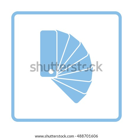 Color samples icon. Blue frame design. Vector illustration.