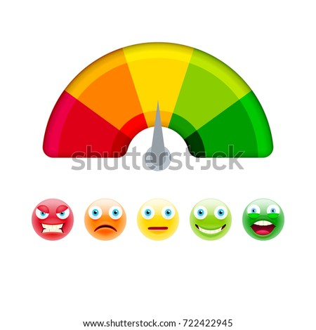 Color Scale With Arrow From Red To Green And The Of Emotions