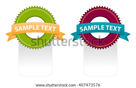 color set of ribbons for put your text - stock vector