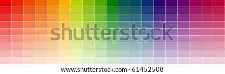 color shade chart - stock vector
