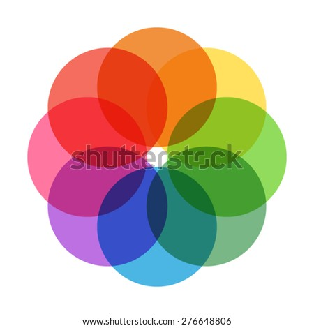 Color sign - stock vector