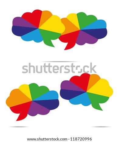 color speech bubble - stock vector