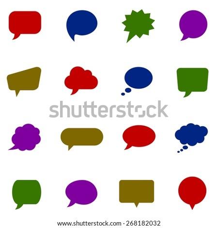 Color speech bubbles - stock vector
