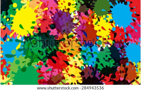 color splash - stock vector