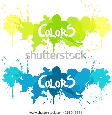 Color splash vector - stock vector