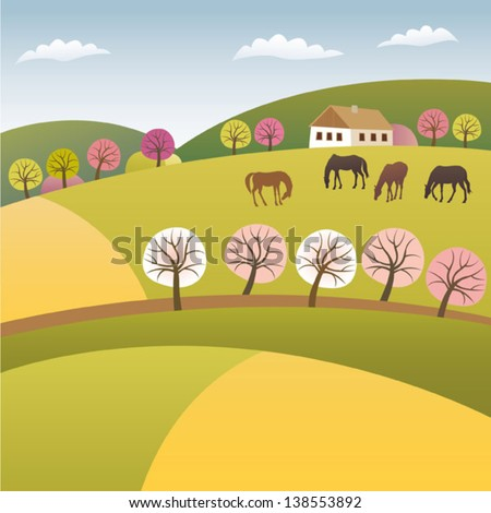 Color spring - stock vector