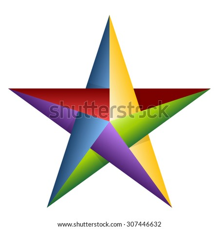 Color Star - stock vector