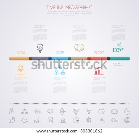 Business Timeline Infographics Vector Design Template Vector – Timeline Website Template