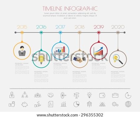 Color Step Design with colour icon timeline template/graphic or website - stock vector