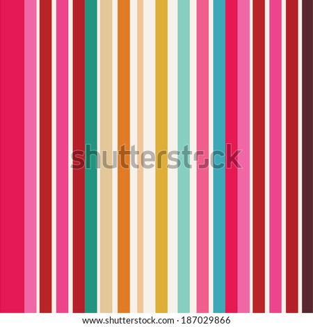 color stripes background - stock vector