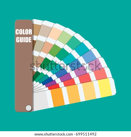 color swatch color palette guide colorful scale rainbow tool for designer photographer - Pantone Color Swatch Book
