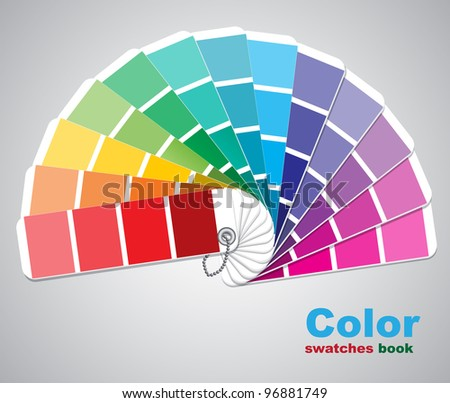 Color swatches. Vector illustration. - stock vector