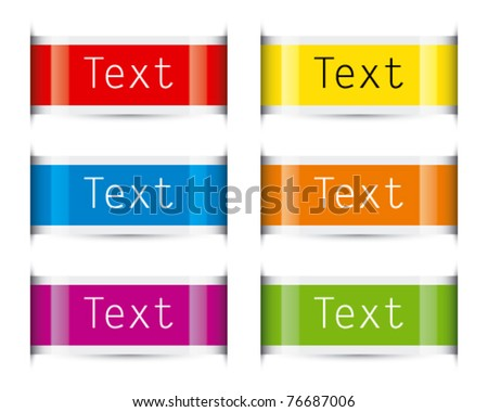 Color tags - stock vector