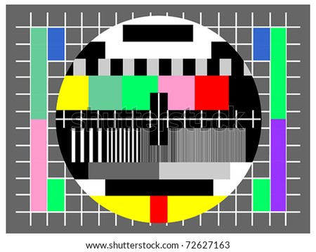 Color test for television , for checking quality. Also available as jpeg.
