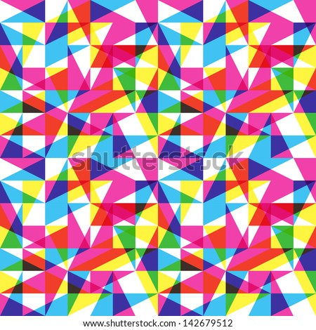 Color trend pattern - stock vector