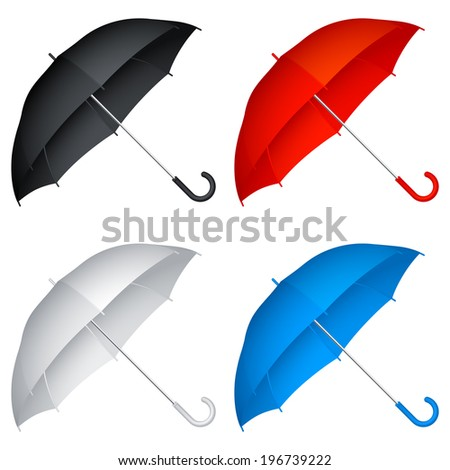 Color umbrellas. - stock vector
