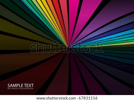 Color vector  background design template - Web layout in rainbow colors