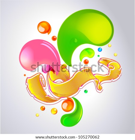 Color vector bubbles banner and ribbon part 1 - stock vector