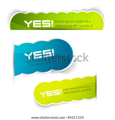Color vector labels - stock vector