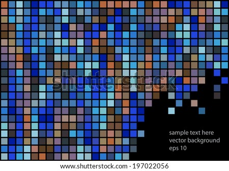 color vector mosaic squares background - stock vector